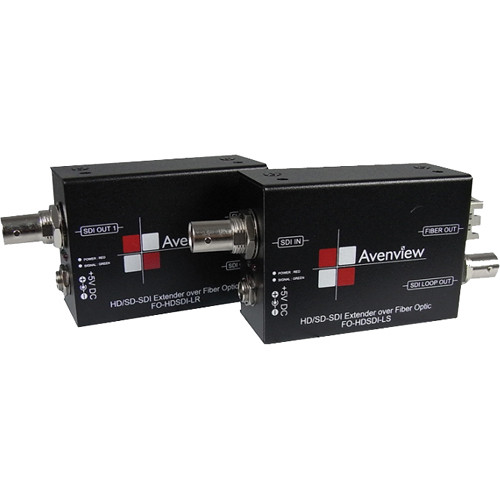 Avenview FO-HDSDI-L-SET HD/SD-SDI Extender over Fiber Optic with Loop-Out