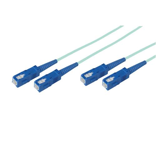 Avenview 50/125µm Fiber Optic Multimode Duplex SC to SC 10Gb OM3 Cable (33', Aqua)