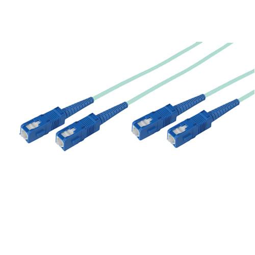 Avenview 50/125µm Fiber Optic Multimode Duplex SC to SC 10Gb OM3 Cable (165', Aqua)