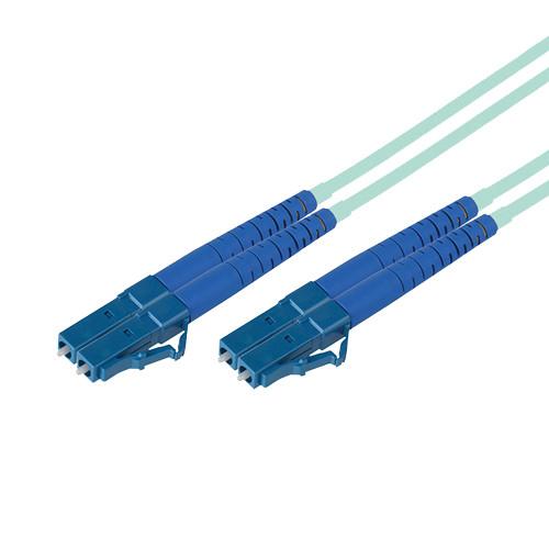 Avenview LC to LC 50/127 OM3 10 Gb Duplex Fiber Optic Patch Cable (330', Aqua)