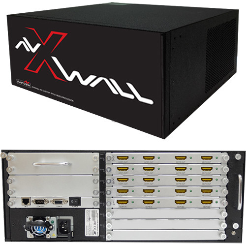 Avenview AVXWALL Modular 4K Video Wall Controller Chassis with 4 x 16 1080p HDMI I/O Cards