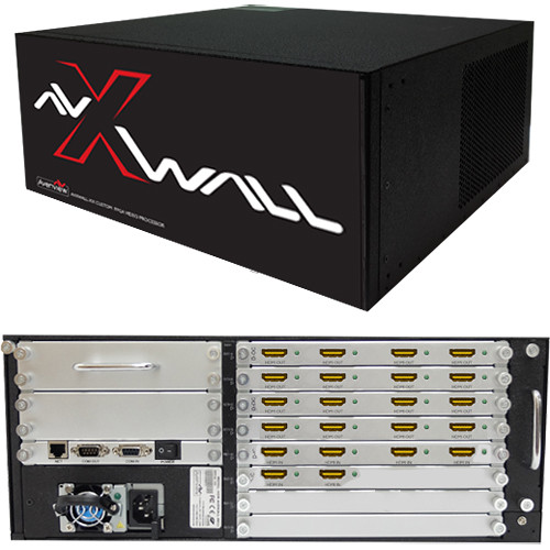 Avenview AVXWALL Modular 4K Video Wall Controller Chassis with 6 x 16 1080p HDMI I/O Cards