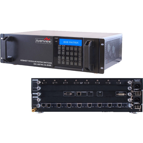 Avenview SW-HBT4K-C6-8X8E HDMI HDBT 4K Matrix Switcher