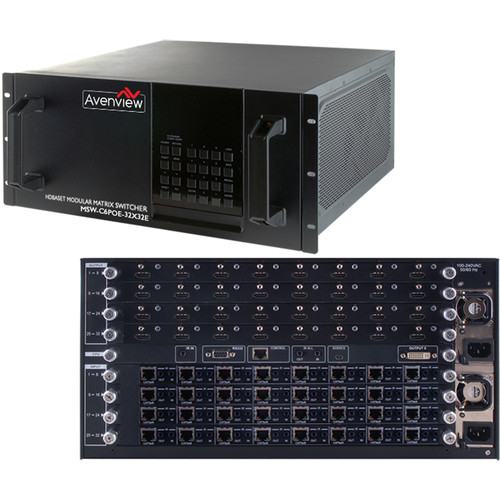 Avenview SW-HBT-C6POE-32x32E HDBT Modular Matrix Switcher Chassis