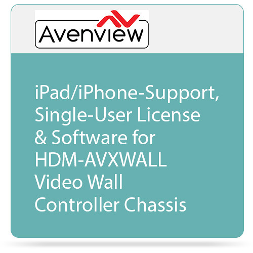 Avenview iPad/iPhone-Support, Single-User License & Software for HDM-AVXWALL Video Wall Controller Chassis