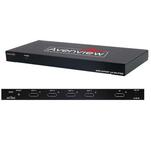 Avenview 4-Port DisplayPort Splitter
