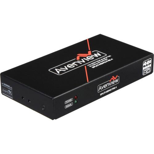 Avenview 1 x 4 HDMI True 4K & UHD Splitter with EDID