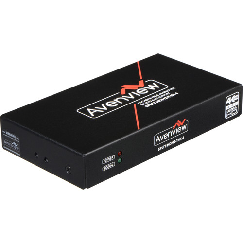 Avenview 1 x 4 HDMI True 4K & UHD Splitter with EDID