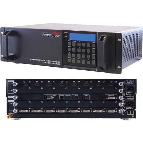 Avenview SW-HBT-C6POE-8x8E HDBaseT Modular Matrix Switcher