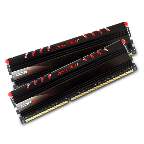 Avexir 8GB Core Series DDR3 1600 MHz UDIMM Memory Kit (2 x 4GB, Red LED)