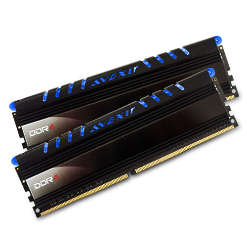 Avexir 16GB Core Series DDR4 2400 MHz UDIMM Memory Kit (2 x 8GB, Blue LED)