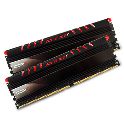 Avexir 16GB Core Series DDR4 2400 MHz UDIMM Memory Kit (2 x 8GB, Red LED)