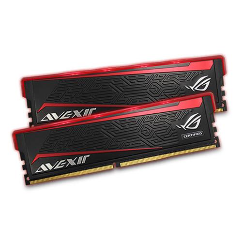 Avexir 8GB ROG Impact DDR4 2666 MHz UDIMM Memory Kit (2 x 4GB, Red LED)