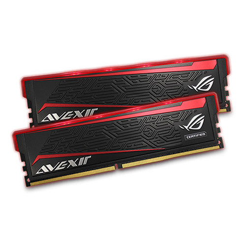 Avexir 16GB ROG Impact DDR4 2666 MHz UDIMM Memory Kit (2 x 8GB, Red LED)
