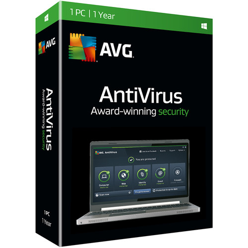 AVG AntiVirus 2016 (Boxed, 1 User, 1-Year)