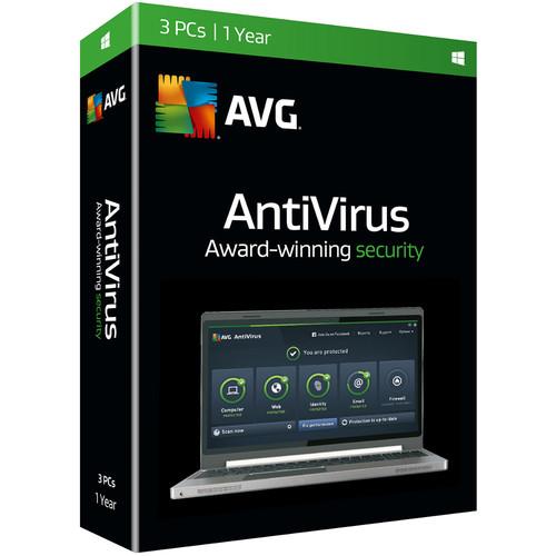 AVG AntiVirus 2016 (Boxed, 3 Users, 1-Year)