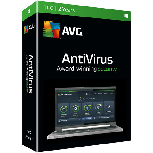 AVG AntiVirus 2016 (Boxed, 1 User, 2-Year)