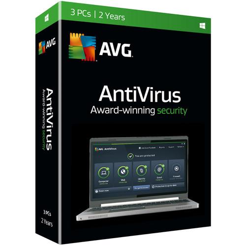 AVG AntiVirus 2016 (Boxed, 3 Users, 2-Year)