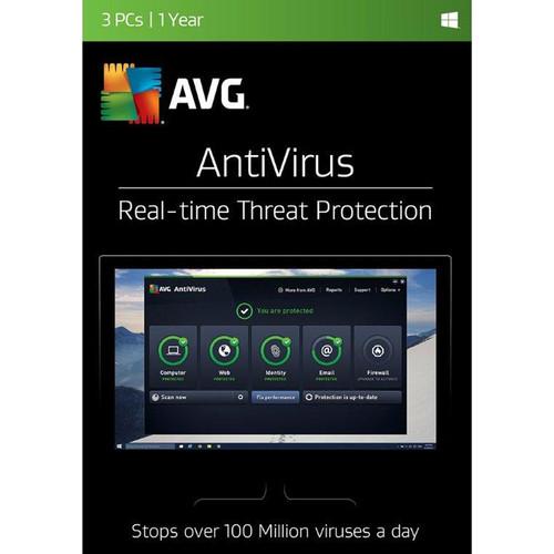 AVG AntiVirus 2017 (3 Users, 1-Year License, Download)