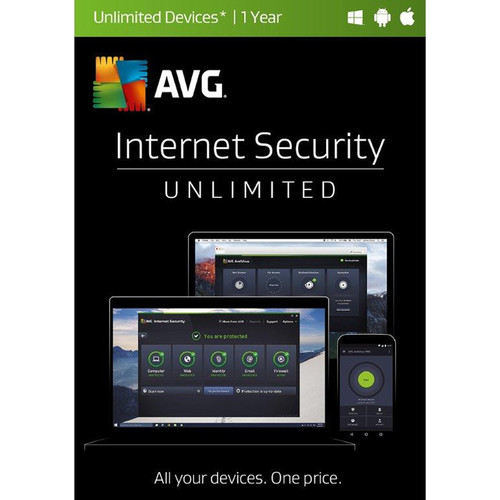AVG Internet Security 2017 (Unlimited Users, 1-Year License, Boxed)