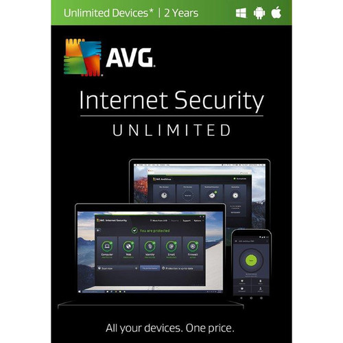 AVG Internet Security 2017 (Unlimited Users, 2-Year License, Download)