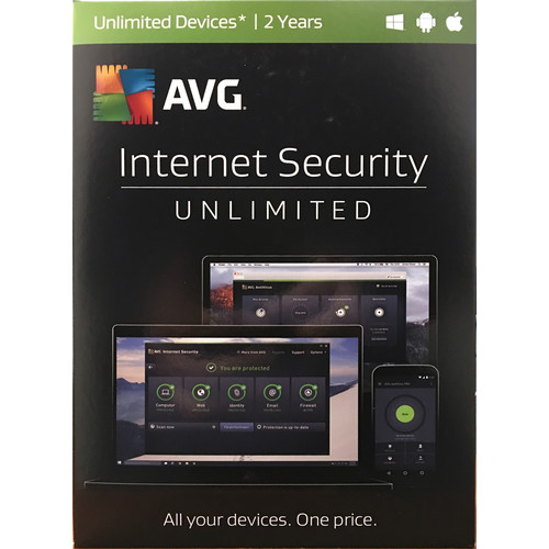 AVG Internet Security 2017 (Unlimited Users, 2-Year License, Boxed)