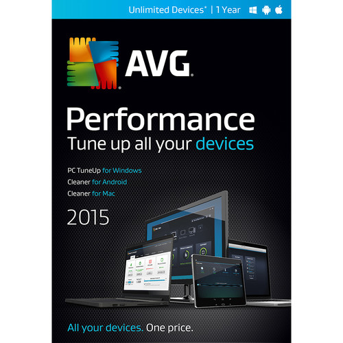 AVG Performance 2015 (Unlimited Devices, 1-Year)