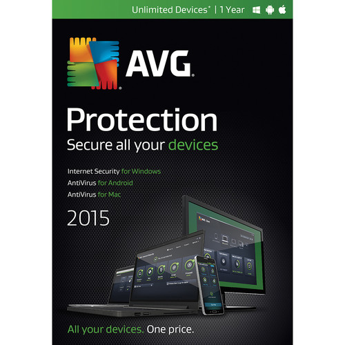 AVG AVG Protection 2015 (Unlimited Devices, 1-Year)