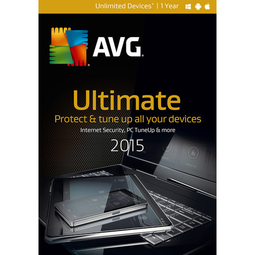 AVG AVG Ultimate 2015 (Unlimited Devices, 1-Year, Boxed)