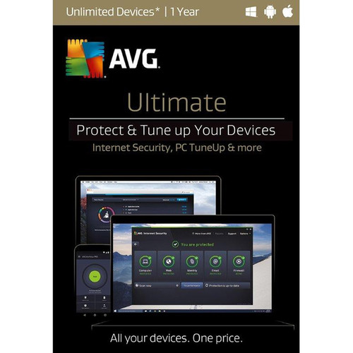 AVG Ultimate 2017 (Unlimited Devices, 1-Year License, Download)