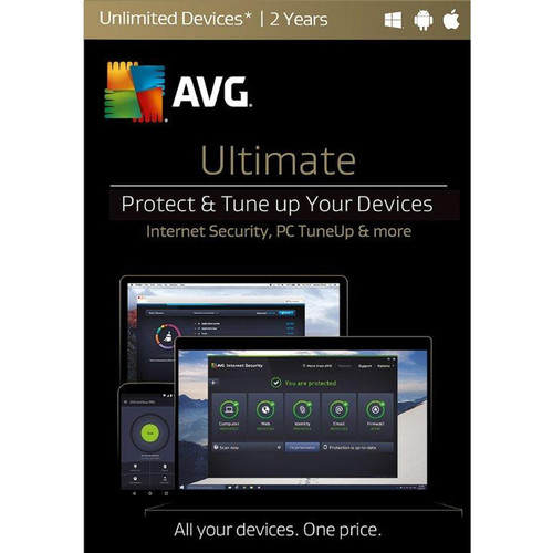 AVG Ultimate 2017 (Unlimited Devices, 2-Year License, Boxed)