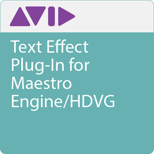 Avid Text Effect Plug-In For Maestro  Engine/HDVG