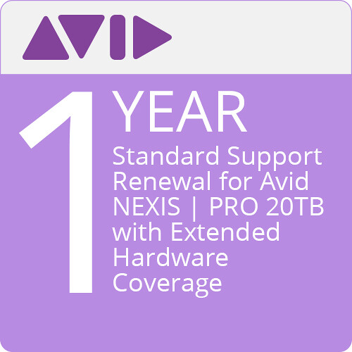 Avid Standard Support For Avid NEXIS   PRO 20/40TB (Extension)
