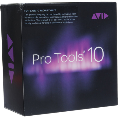 Avid Pro Tools 10 - Professional Audio Software (Teacher and Staff Edition - Boxed with DVDs)