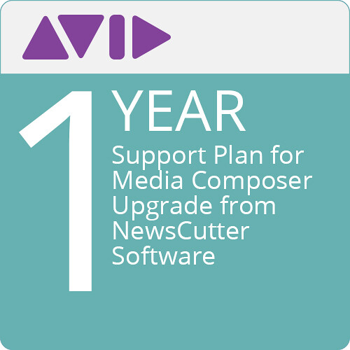Avid Technologies 1-Year Support Plan for Media Composer Upgrade from NewsCutter Software