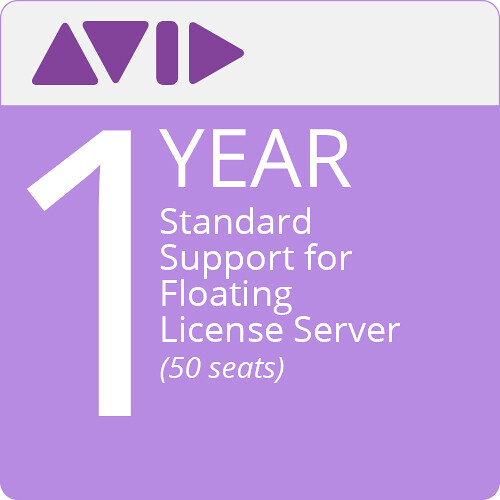 Avid Technologies Standard Support for Floating License Server (1-Year, 50-Pack)