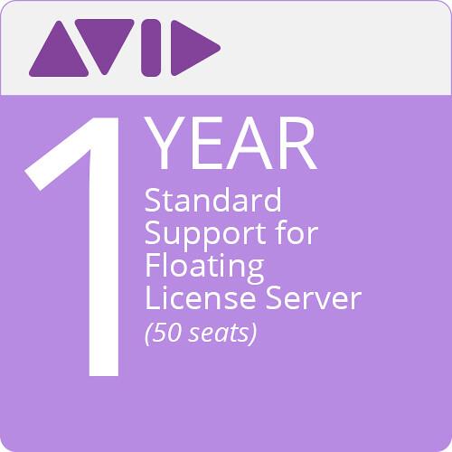 Avid Standard Support for Floating License Server (1-Year, 50-Pack)