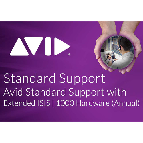 Avid Standard Software Support with Extended Hardware Coverage for ISIS 1000 20TB/40TB (Annual)