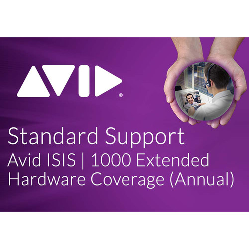 Avid Extended Hardware Coverage Add-On for ISIS 1000 Software 20TB (Annual)