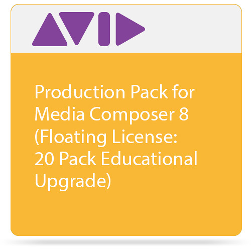 Avid Technologies Production Pack for Media Composer 8 (Floating License: 20 Pack Educational Upgrade)