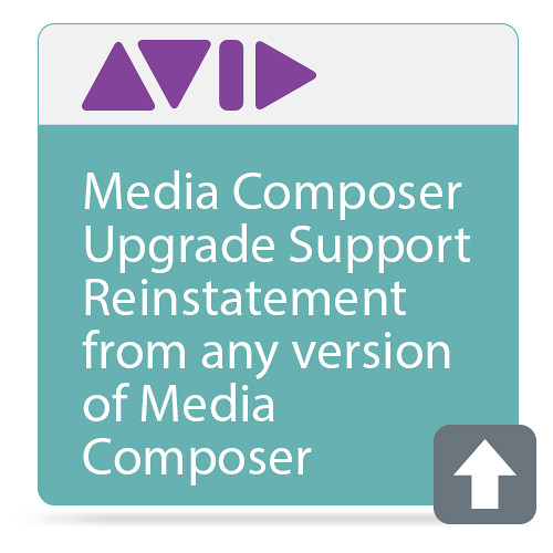 Avid Media Composer Upgrade  Support Reinstatement from any version of Media Composer
