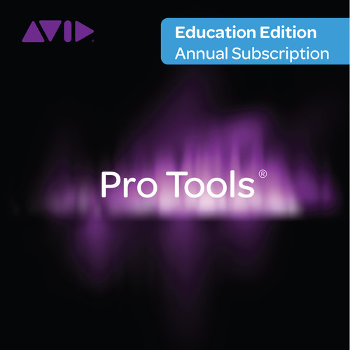 Avid Technologies Pro Tools Subscription - Audio and Music Creation Software (Student/Teacher Annual License)