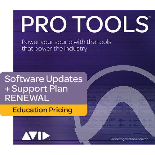 Avid Pro Tools 1-Year Software Updates & Support Plan Renewal for Perpetual License (Student/Teacher, Boxed)