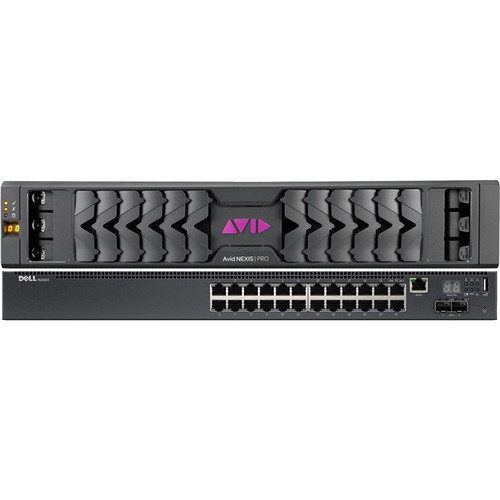 Avid Nexis  Pro 40TB Storage System With Dell N2024 Switch With Extended Hardware Coverage