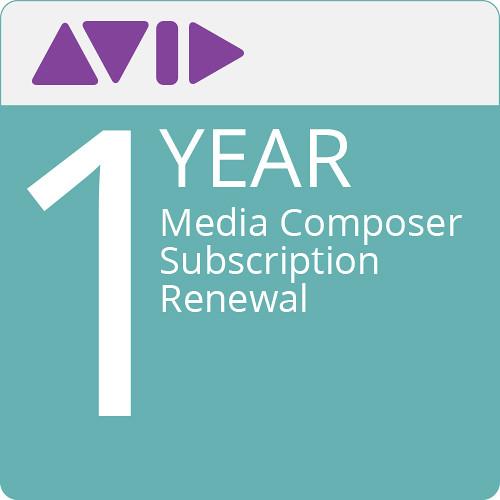 Avid Media Composer (1-Year Subscription Renewal, Download)
