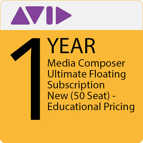 Avid Media Composer Ultimate Floating 50-Seat Educational 1-Year Subscription (Download)