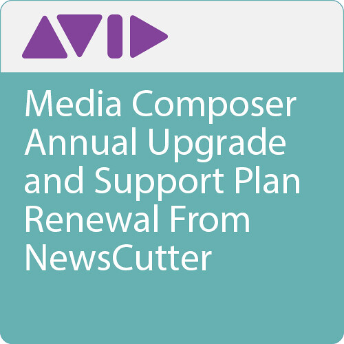 Avid Media Composer Annual Upgrade and Support Plan Renewal From NewsCutter
