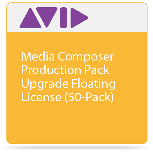 Avid Media Composer Production Pack Upgrade 50-Seat Floating License (1-Year Subscription)