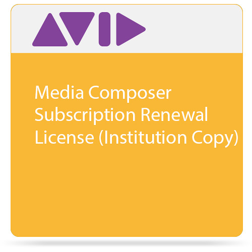 Avid Technologies Media Composer Subscription Renewal License (Institution Copy)