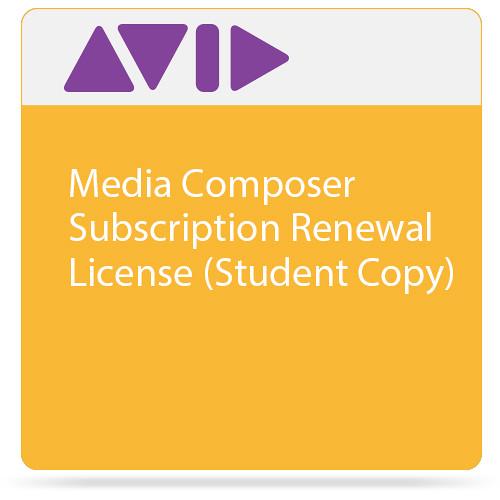 Avid Media Composer Subscription Renewal License (Student Copy)